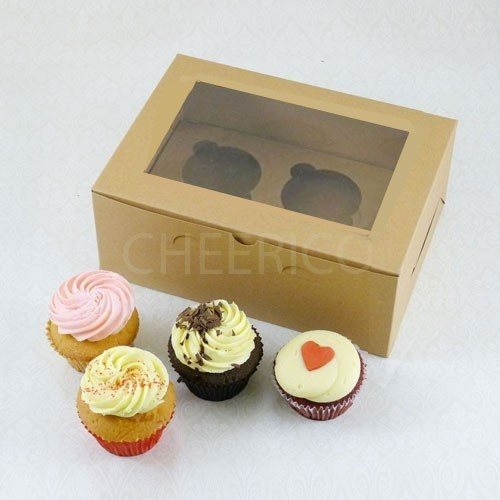 2 Cupcake Kraft Window Box($1.60/pc x 25 units)