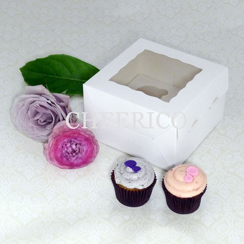 4 Window Mini Cupcake Box ($1.65/pc x 25 units)