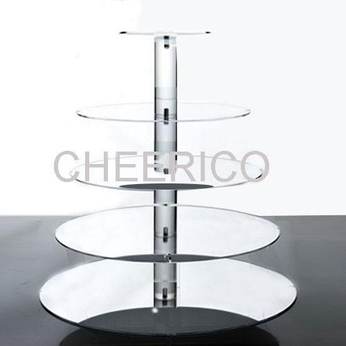 5 Tier Mirrored Effect Maypole Cupcake Stand