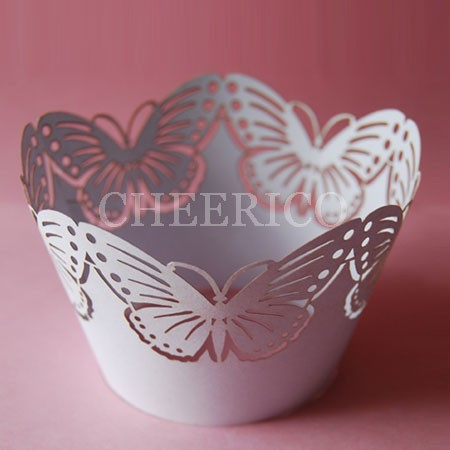 Purple Butterfly Cupcake Wrappers - 12units/pack