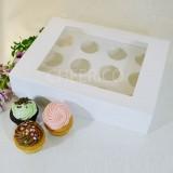 12 Cupcake Window Box with Flexi hole ($3.20/pc x 25 units)