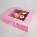 12 Pink Cupcake Window Box ($3.20/pc x 25 units)
