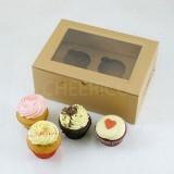 2 Cupcake Kraft Window Box($1.70/pc x 25 units)