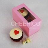 2 Cupcake Pink Window Box($1.70/pc x 25 units)