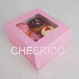 4 Pink Cupcake Window Box ( $2.00/pc x 25 units)