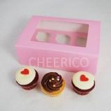 6  Window Pink Cupcake Box($2.50/pc x 25 units)