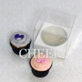 1 Cupcake Clear PVC Box($1.25/pc x 25 units)